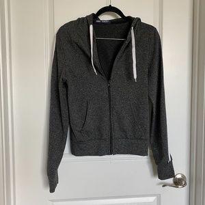 Gray Jacket with 2 white stripes